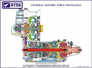 GM 4T80-E 18 X 24 Color Cutaway Poster