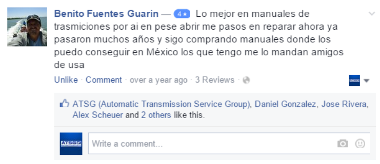 ATSG Facebook Reviews & Testimonials
